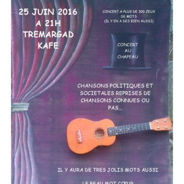 "Concert Samedi 25 Juin à 21h ""Simon Motvousva"" Chansons à texte"