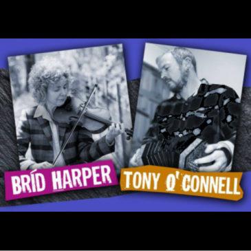 Brid Harper et Tony O'Connell en concert le 14 Aout à 18H + Session!