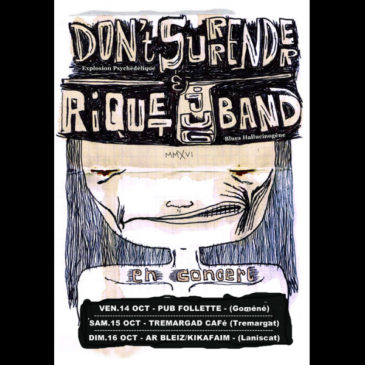 Riquet Jug Band et Don't Surrender le 15 octobre 21H