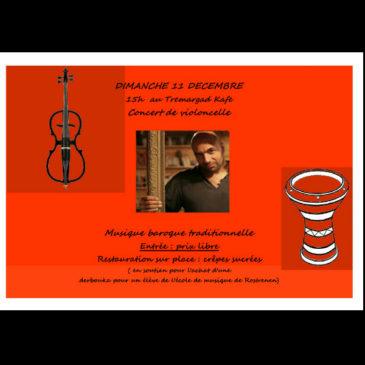 Concert de Violoncelle 11 Décembre à 15h