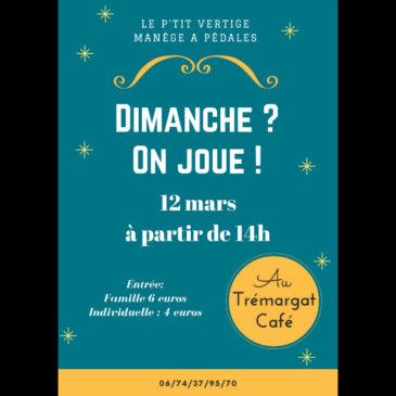 On joue Dimanche 12 Mars au Tremargad Kafe!!!
