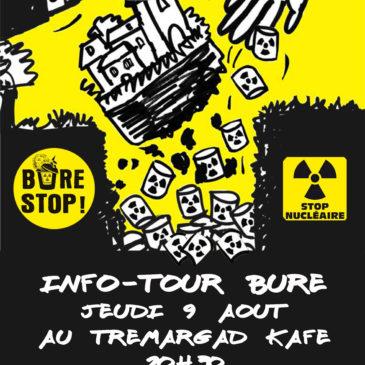 Info-tour Bure le jeudi 9 Août à 20h30