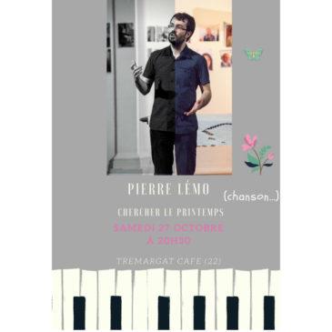 Pierre Lémo en concert le Samedi 27 Octobre à 20h30