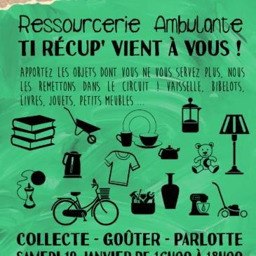 Ressourcerie ambulante, Ti Récup' vient à vous – Collecte le 19 janvier au Tremargad Kafe