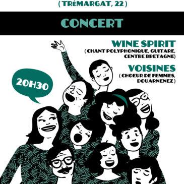 Les Voisines et Wine Spirit le samedi 14 mars à 21h